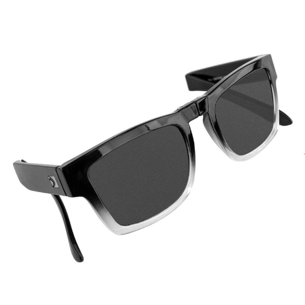 Bobster Brix Folding Sunglasses-Gloss Grad Frame/Smoked Lens