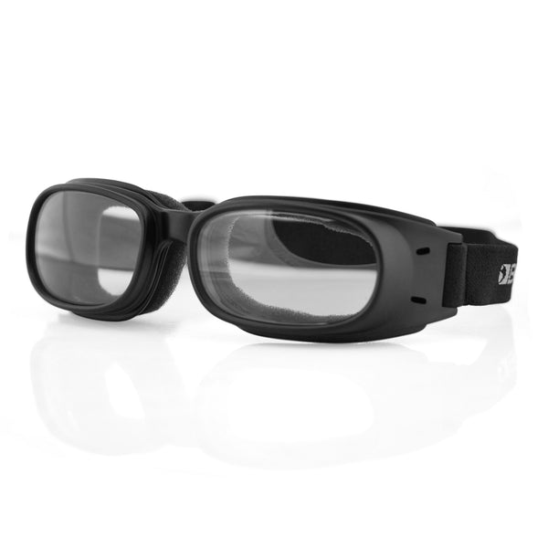 Bobster Piston Goggle, Black Frame, Clear Lens