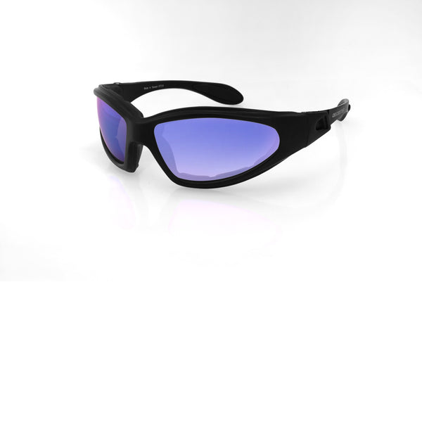 Bobster GXR Sunglasses-Matte Black W/Smoked Blue Mirror Lens