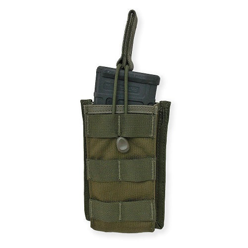 Tacprogear Single Rifle Mag Pouch Open Top Olive Drab Green