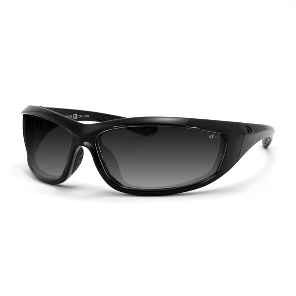 Bobster Charger Sunglass, Gloss Black Frame, Anti-fog Smoked