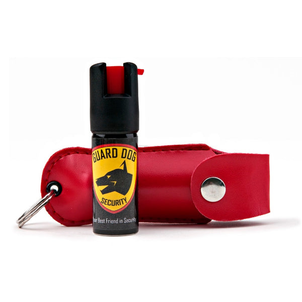 Guard Dog Hard Case Keychain Pepper Spray - Red