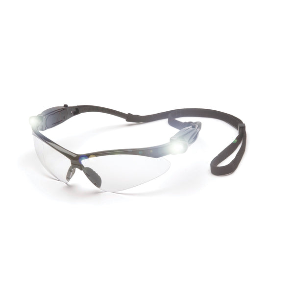 Pyramex PMXTREME Glasses Black Frame LED Temples/Clear Lens