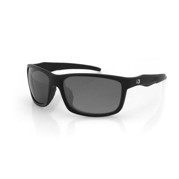 Bobster Virtue Sunglass-Matte Black Frame-Anti-fog Smoked
