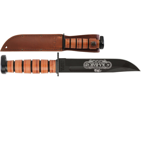 Ka-Bar Dog's Head 120th Anniversary Fixed 7 in Blk Bld Lthr