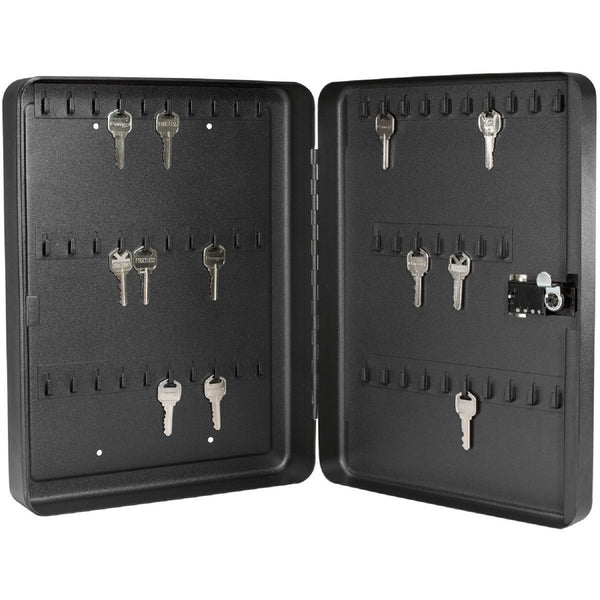 Barska 60 Keys Lock Box With Combination Lock Black