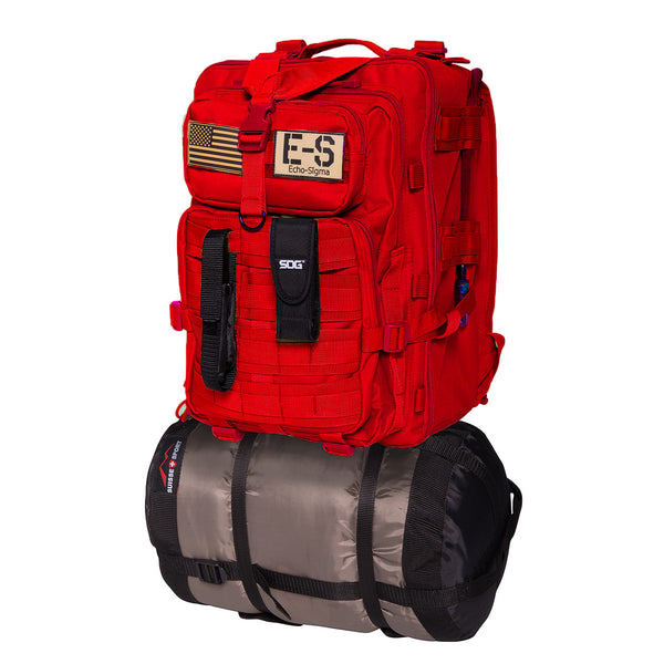 Echo-Sigma Emergency Bug Out Bag Red