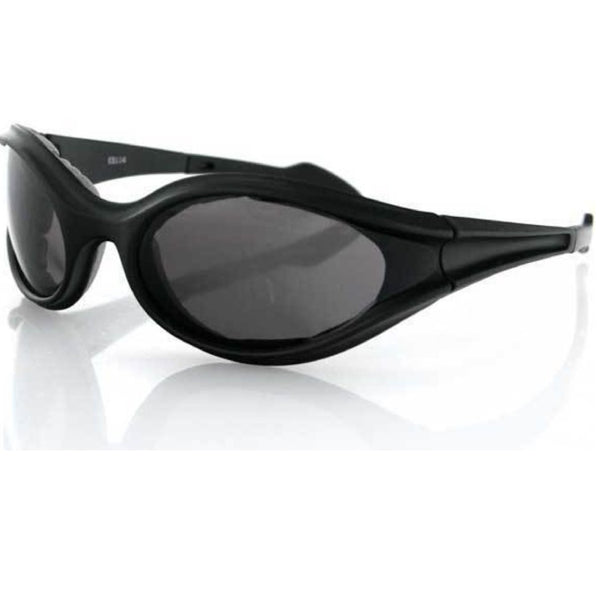 Bobster Foamerz Sunglass, Black Frame, Anti-fog Smoked Lens