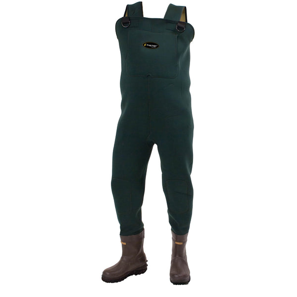 Frogg Toggs Amphib BTFT Neoprene Chest Wader Cleated Sz 14