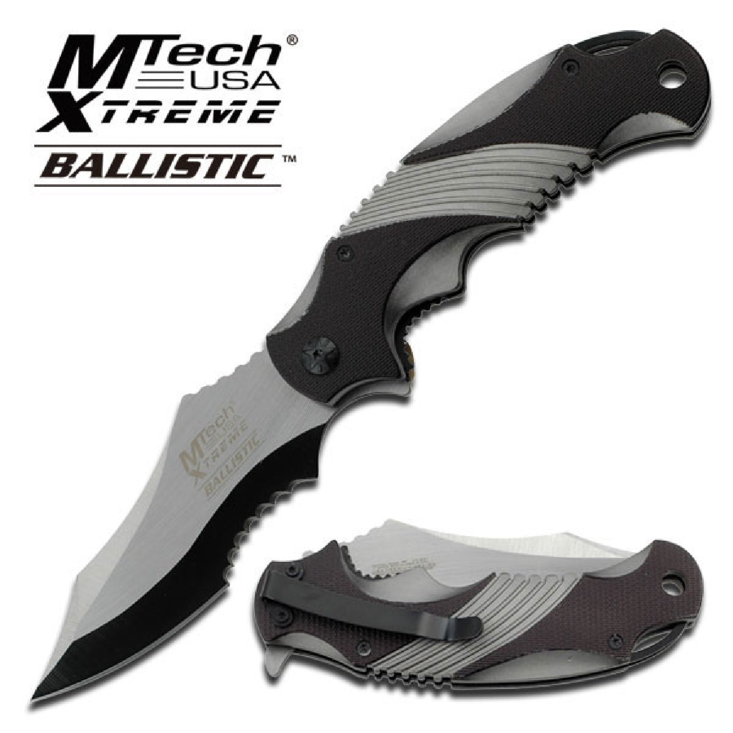 MTech Assisted 3.5 in Blade Aluminum Handle