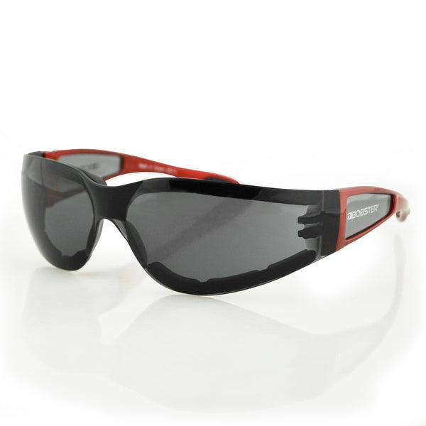 Bobster Shield II Sunglass, Red Frm, Smoked Lens