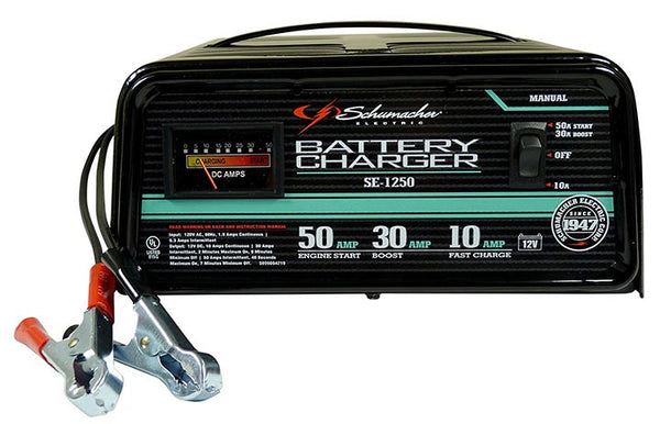 Schumacher 10/30/50A 12V Manual Battery Charger with Engine Start