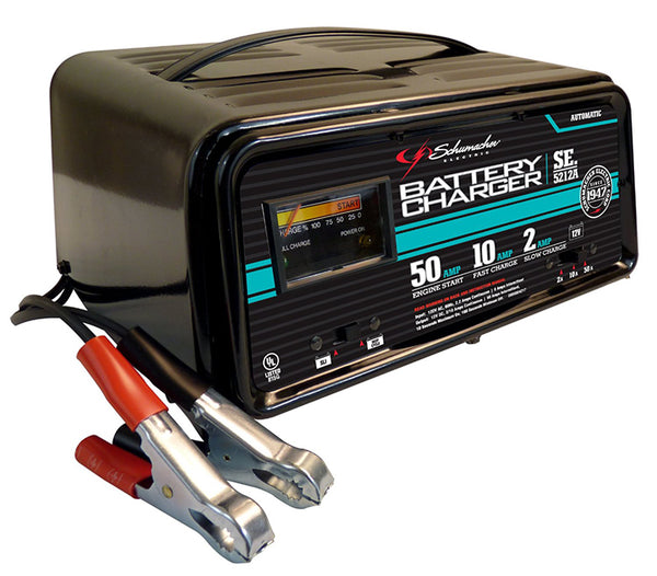 Schumacher  2/10/50A 12V Fully Automatic Battery Charger with Engine Start