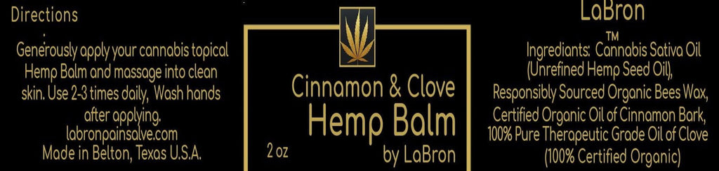 Hemp Pain Salve-Cinnamon and Clove