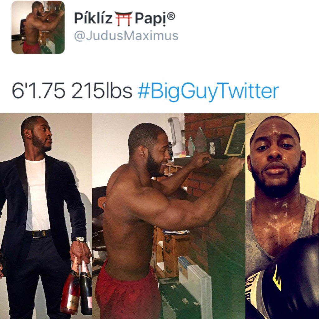 ARE YOU APART OF #BIGGUYTWITTER?! IF NOT, BULK UP!