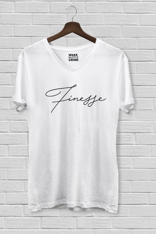 Finesse Game Strong V-Neck T-Shirt - WHGHOLLYWOOD