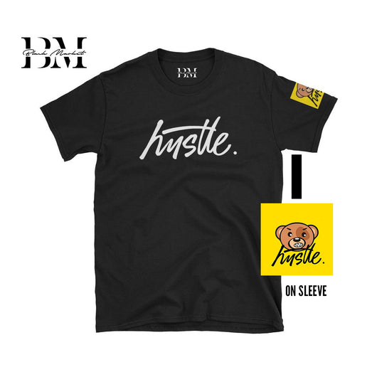 Hustle Script Shirt + Bear on Sleeve - WHGHOLLYWOOD