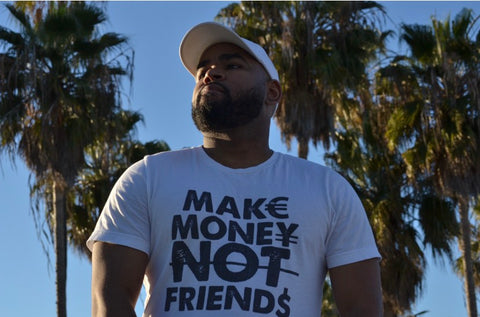 Make Money Not Friends $ Wake hustle Grind Double Sided Shirt - WHGHOLLYWOOD