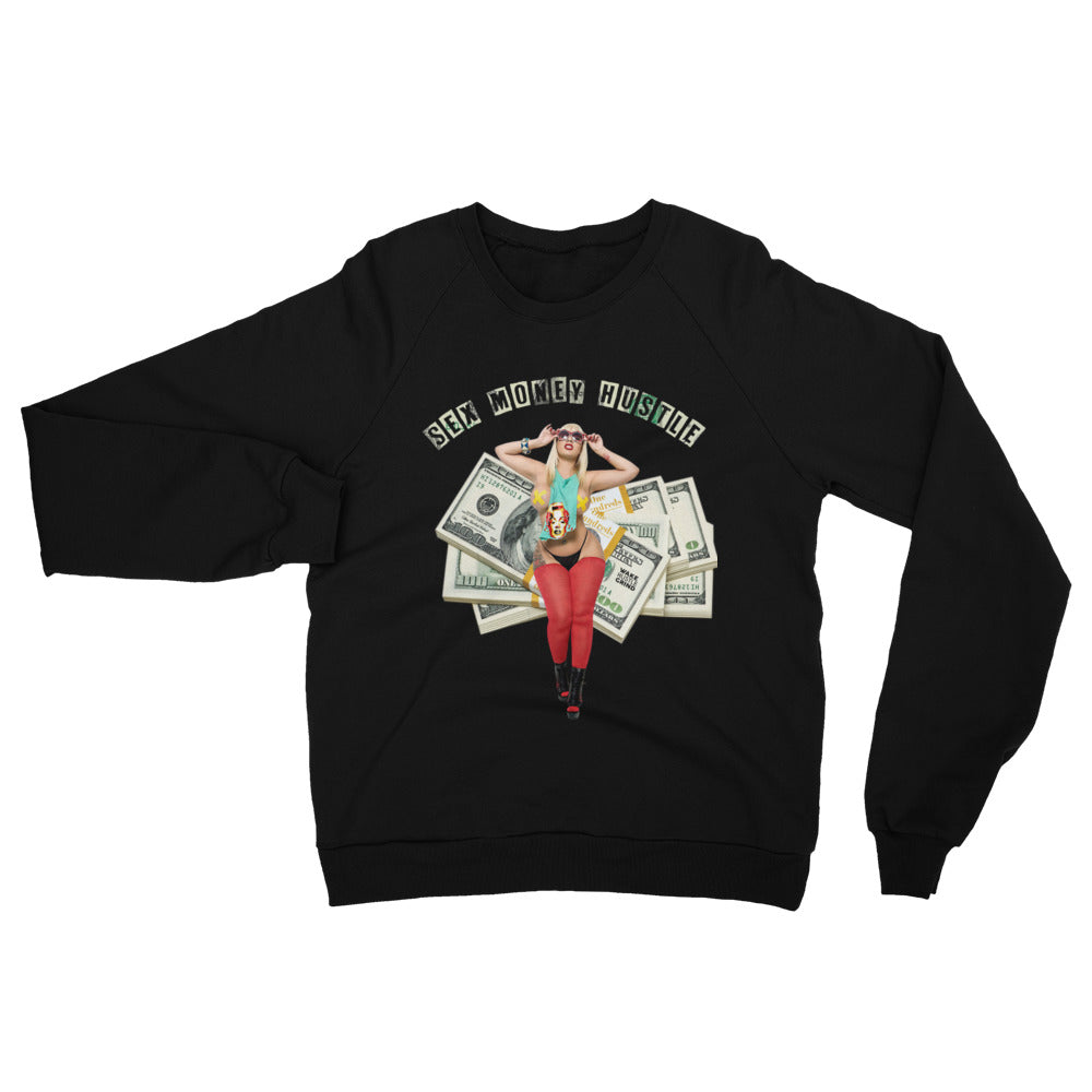 Sex Money Hustle California Fleece Raglan Sweatshirt - WHGHOLLYWOOD