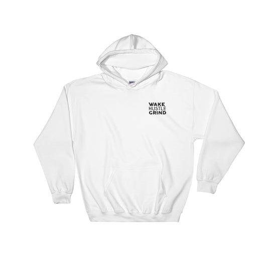 Embroidered Wake Hustle Grind Hooded Sweatshirt - WHGHOLLYWOOD