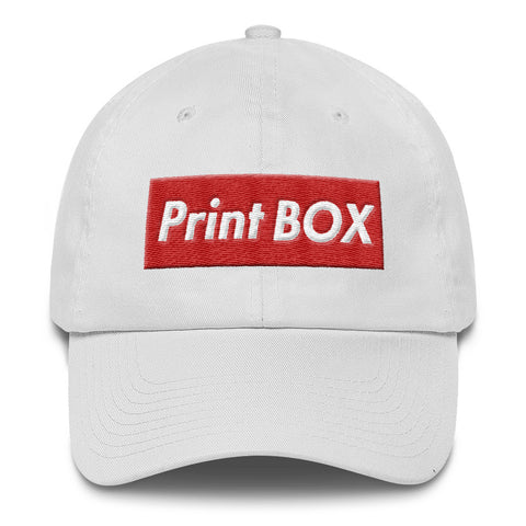 Print Box - White Dad Hat - WHGHOLLYWOOD