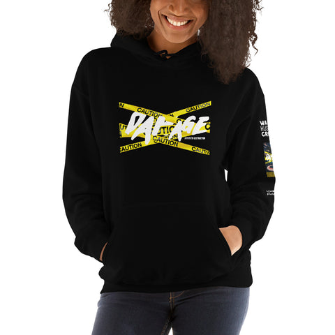 DAMAGE Hooded Sweatshirt Ciera Haddon - WHGHOLLYWOOD