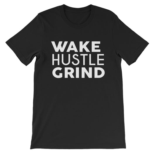 Wake Hustle Grind Black and Red Classic Unisex short sleeve t-shirt - WHGHOLLYWOOD