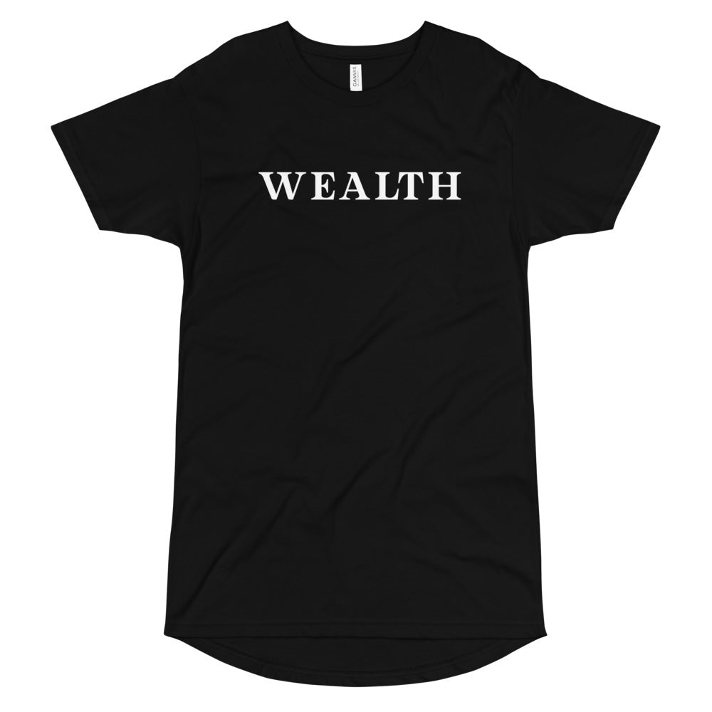 Wealth Elongated Tee - WHGHOLLYWOOD