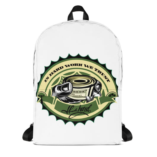 Hustle Hard Graphic Backpack - WHGHOLLYWOOD