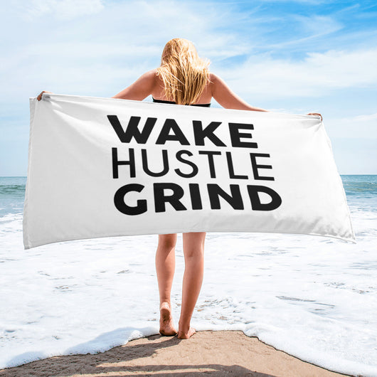 WHG - Wake Hustle Grind Towel - WHGHOLLYWOOD