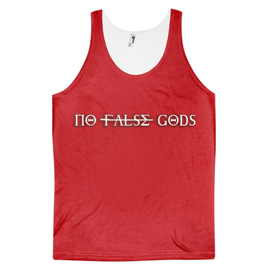 No False Gods Red - Classic fit tank top (unisex) - WHGHOLLYWOOD
