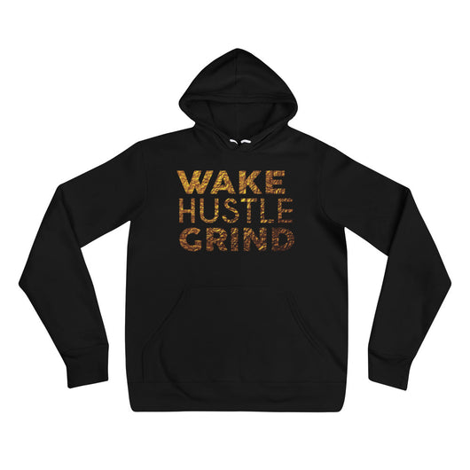 Burnt Gold Wake Hustle GRIND x Double Sided Hoodie - WHGHOLLYWOOD
