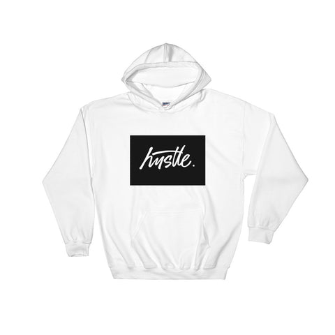 Hustle Script Boxed Hoodie - WHGHOLLYWOOD