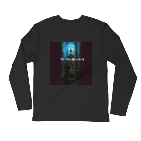No False Gods Long Sleeve Fitted Crew - WHGHOLLYWOOD