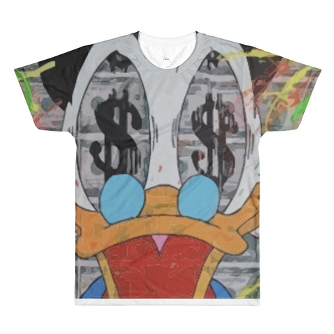 Donald Bucks Sublimation men's crewneck t-shirt - WHGHOLLYWOOD