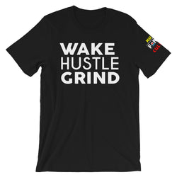 Wake Hustle Grind Front Hustle For The Culture Left Sleeve - WHGHOLLYWOOD