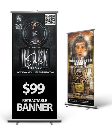 Retractable Banner - Print Only - FREE SHIPPING