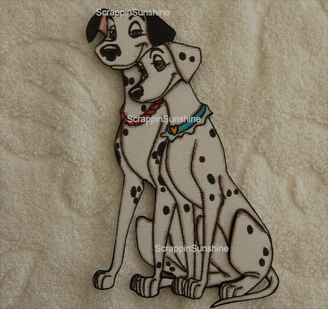 DISNEY 101 Dalmations - Pongo and Perdita (Parents) - Printed Paper Piece for Scrapbook Pages