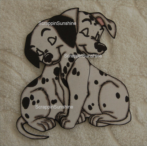 DISNEY 101 Dalmations - Pups - Printed Paper Piece for Scrapbook Pages