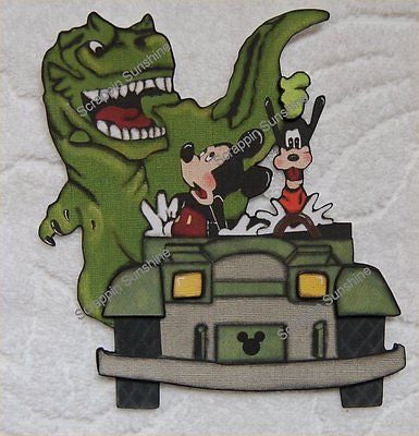 DISNEY -  DinoLand - Dinosaur Ride Premade Scrapbook Page Paper Piecing