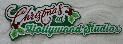 DISNEY CHRISTMAS AT HOLLYWOOD STUDIOS Die Cut Title