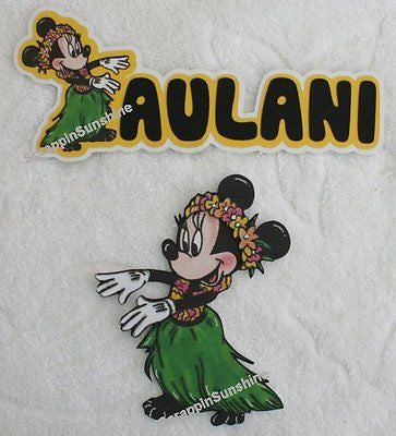 DISNEY Hawiian Aulani Die Cut Title or Printed Scrapbook Paper Piece