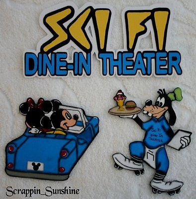 DISNEY SCI FI DINE-IN THEATER - YOU CHOOSE - Printed Scrapbook Page Paper Piece