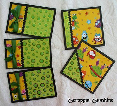 BOY / GIRL - Monster - Space - CHILDREN Mat Set #2 for Scrapbook Pages