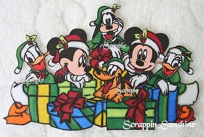 DISNEY Christmas Fab 6 - Printed Scrapbook Page Paper Piece