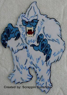 DISNEY EVEREST YETI - Printed Scrapbook Paper Piece Piecing