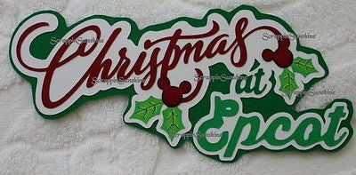 DISNEY CHRISTMAS AT EPCOT Die Cut Title