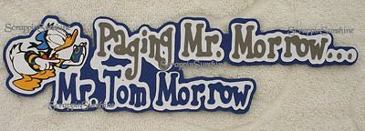 DISNEY PEOPLE MOVER Paging Tom Morrow - Die Cut Title Scrapbook Page Paper Piece