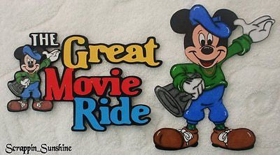 DISNEY GREAT MOVIE RIDE - You Choose Scrapbook Page Paper Piece or Title