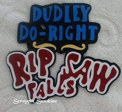 ISLANDS OF ADVENTURE DUDLEY DO-RIGHT FALLS -  Scrapbook Die Cut Title - SSFFDeb